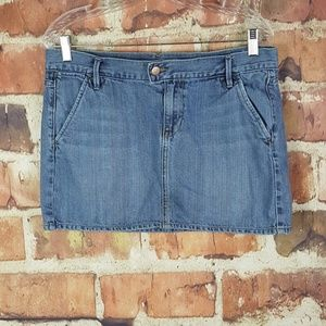 Old Navy Womens Denim Skirt Size 8 Distressed Mini